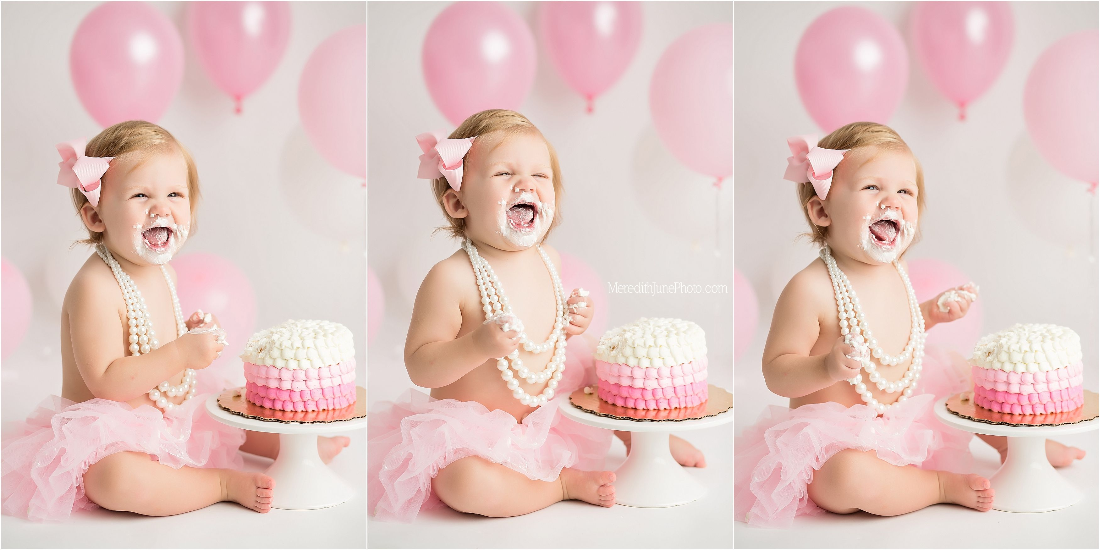 Baby Girl Cake Smash Session With Images Baby Photoshoot Girl