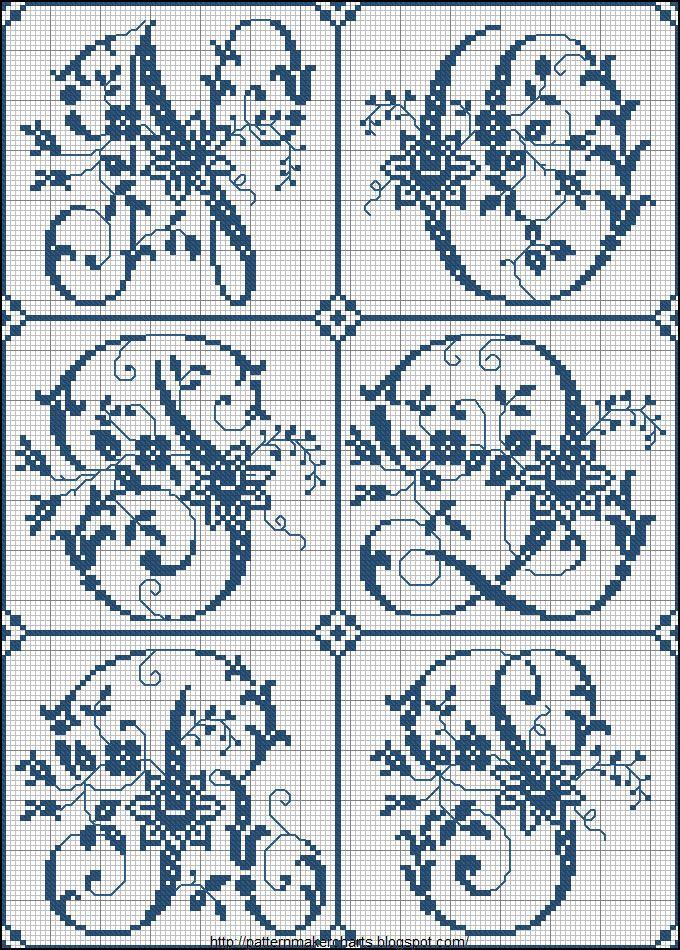 Abecedario | embroidery | Pinterest | Punto de cruz, Abecedario ...