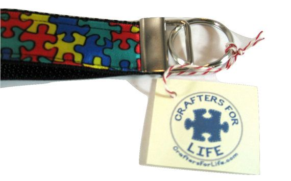 Autism Awareness Puzzle Key Chain by CraftersForLifeStore on Etsy
