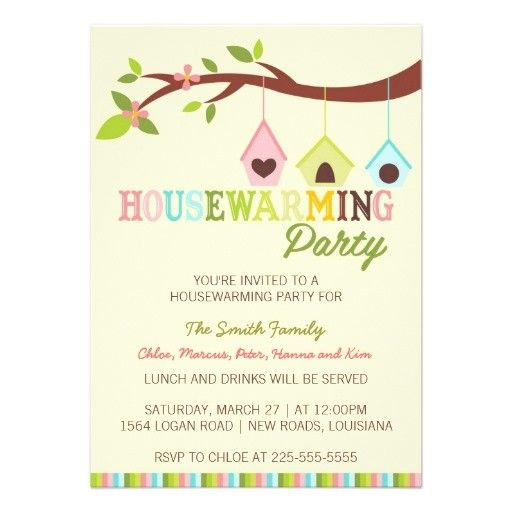 Housewarming Invitation Template Freeinvitation Templates