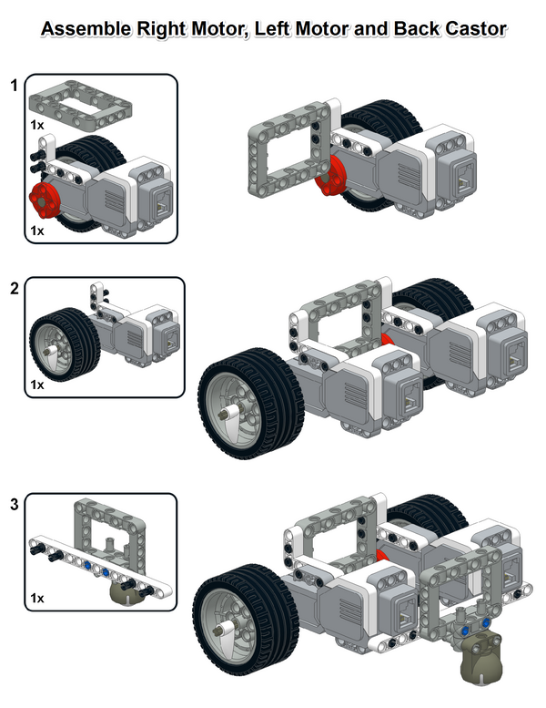 This is my simple EV3 robot design. It is very quick to build ...