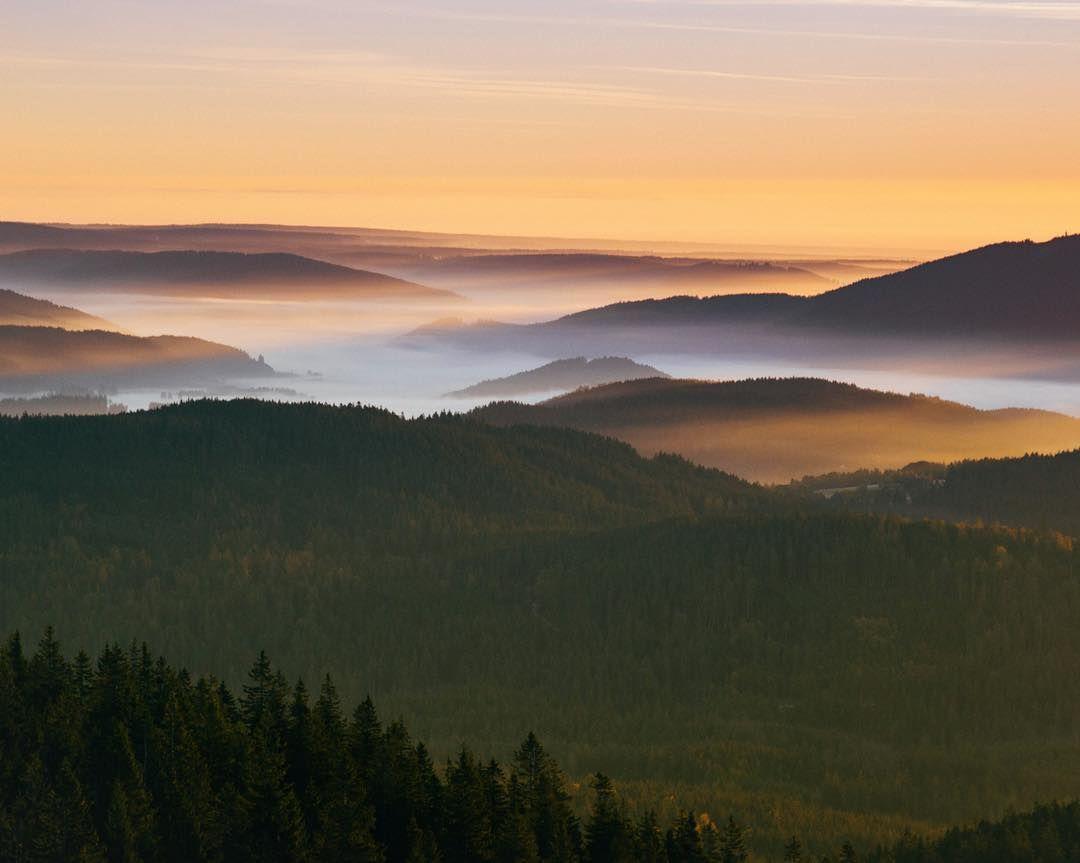 Tolle Aussicht Am Fruhen Morgen Auf Dem Feldberg Schwarzwald