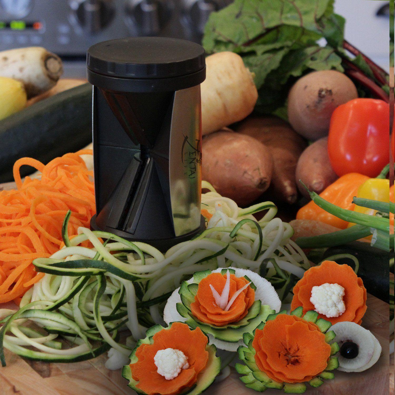 Amazon.com: Spiralizer - Vegetable Spiral Slicer - Free Recipe eBook and Brush Cleaner: Kitchen & Dining