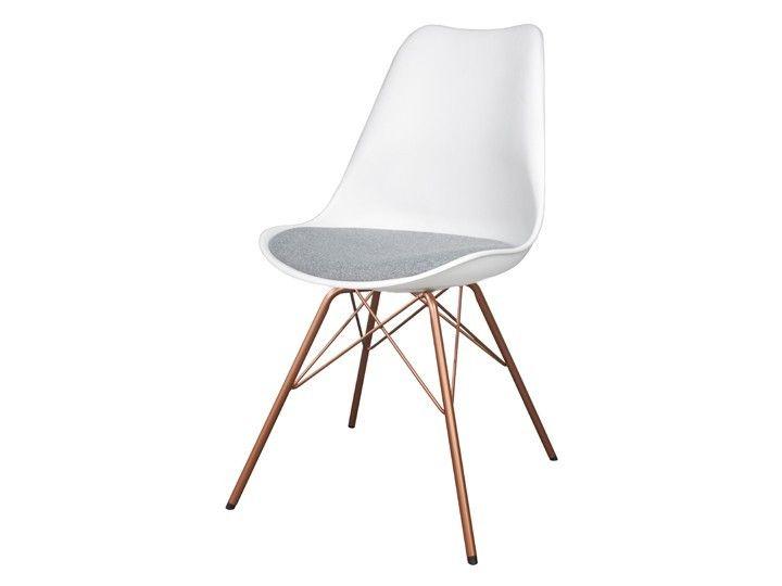 Stühle weiß grau  BASIL Stuhl Esszimmer Wartezimmer Weiß-Grau & Kupfer | Zukünftige ...