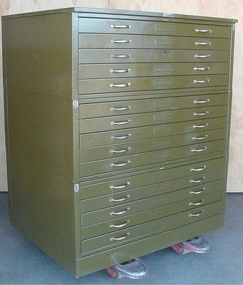 15 Drawer Flat File Engineering Drawing Blue Print Oversize Large Cabinet Large Cabinet Drawers Flat Files