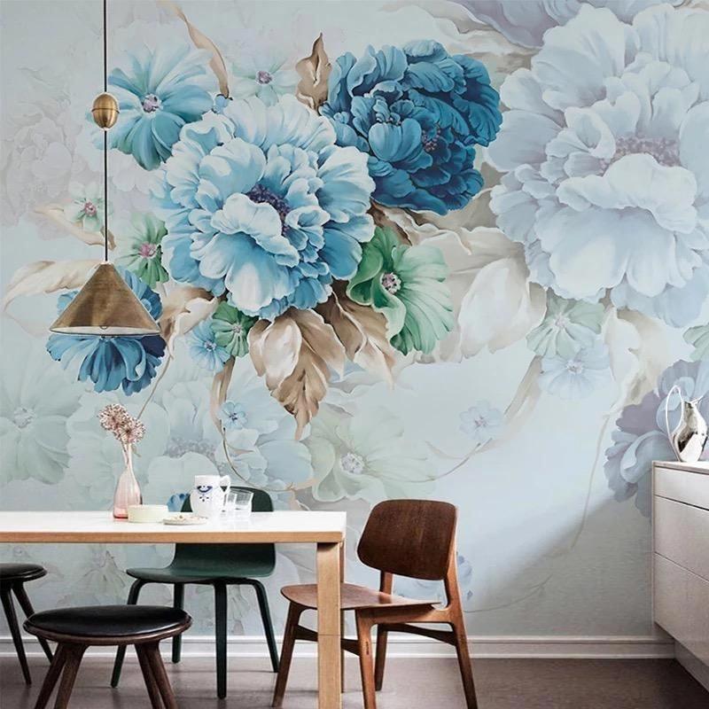 Floral Wallpaper The Treasure Thrift Wallpapermuralsdiningroom