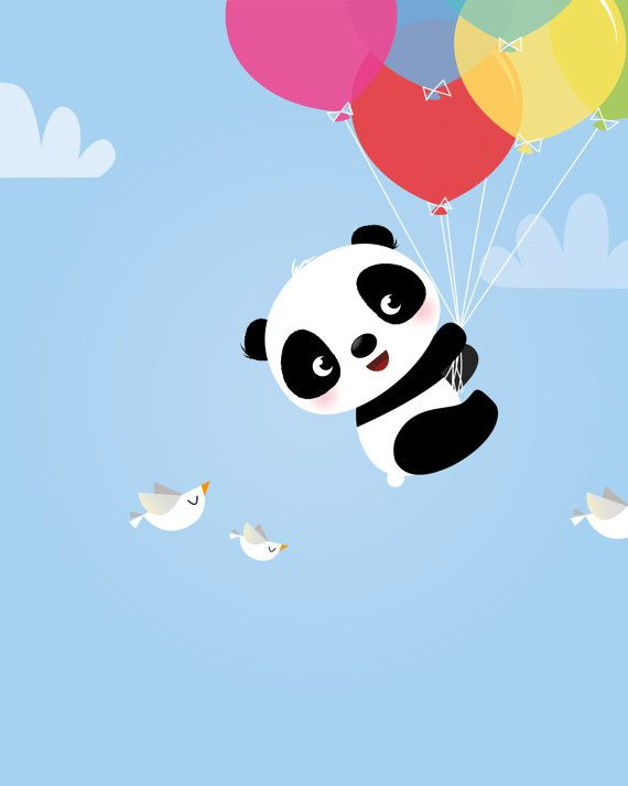 Panda Bear Nursery Art Print Children S Art Kids Room
