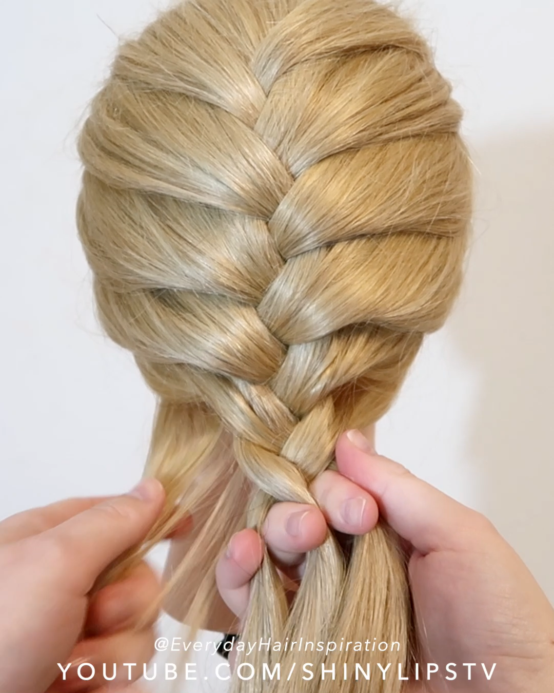 How To French Braid Click Here For The Full Video Braid Click French Full Video In 2020 Diy Hairstyles French Braid Hair Braid Videos