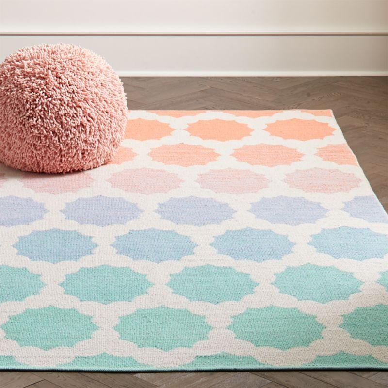 Starburst 8x10 Ombre Rug Reviews Crate And Barrel Girls Room Rugs Ombre Rug Girls Rugs