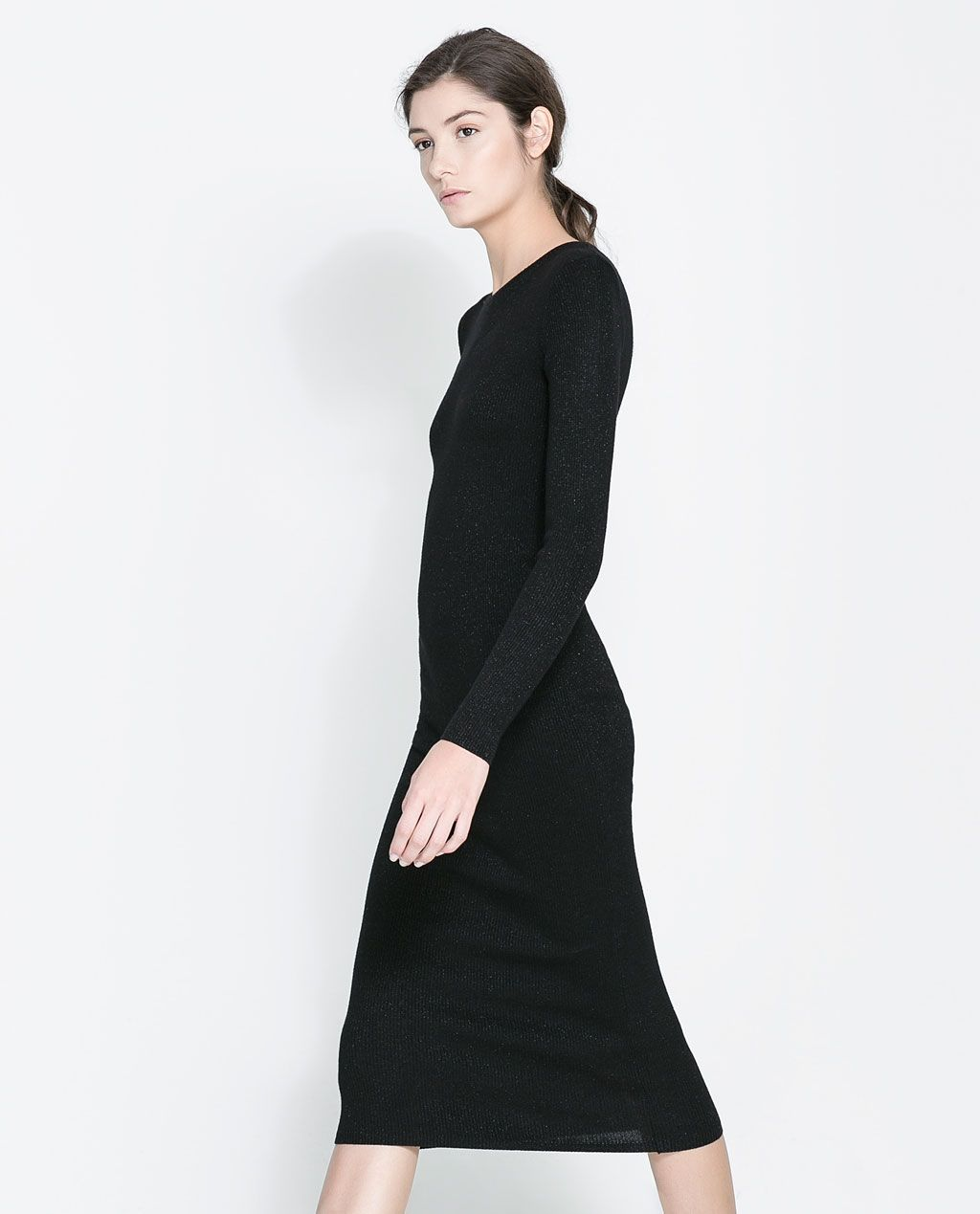 Image of long ribbed dress from zara style pinterest zara