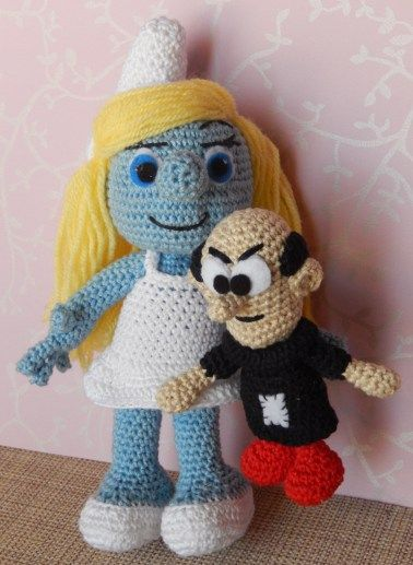 2/1/14 - Smurfette and Gargamel - links to free pattern | Häkeln ...
