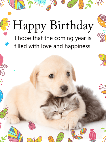 Cuddling dog cat happy birthday card cakes and cards pinterest cuddling dog cat happy birthday card bookmarktalkfo Choice Image