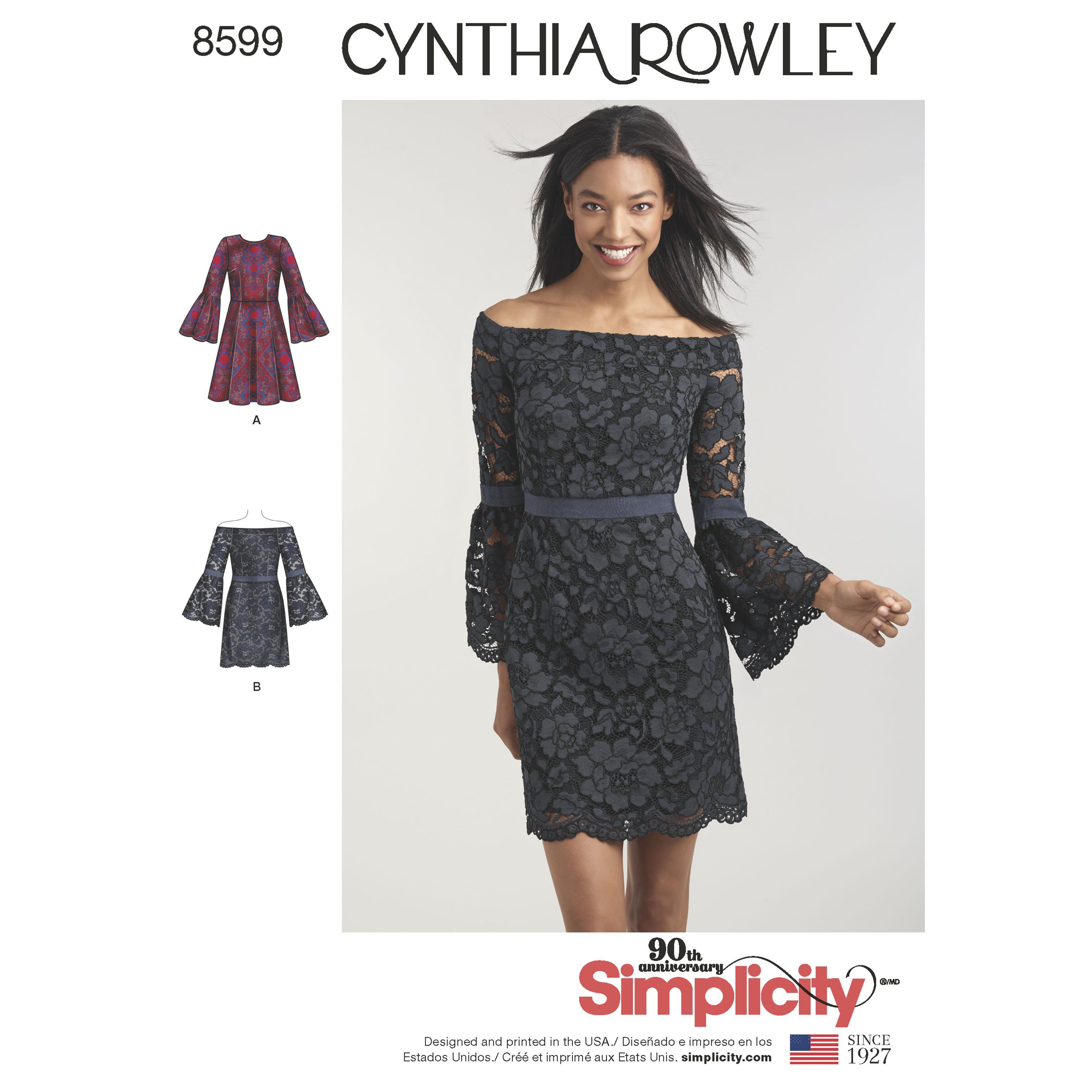 Simplicity 8599 Misses\' and Miss Petite Cynthia Rowley Dresses ...
