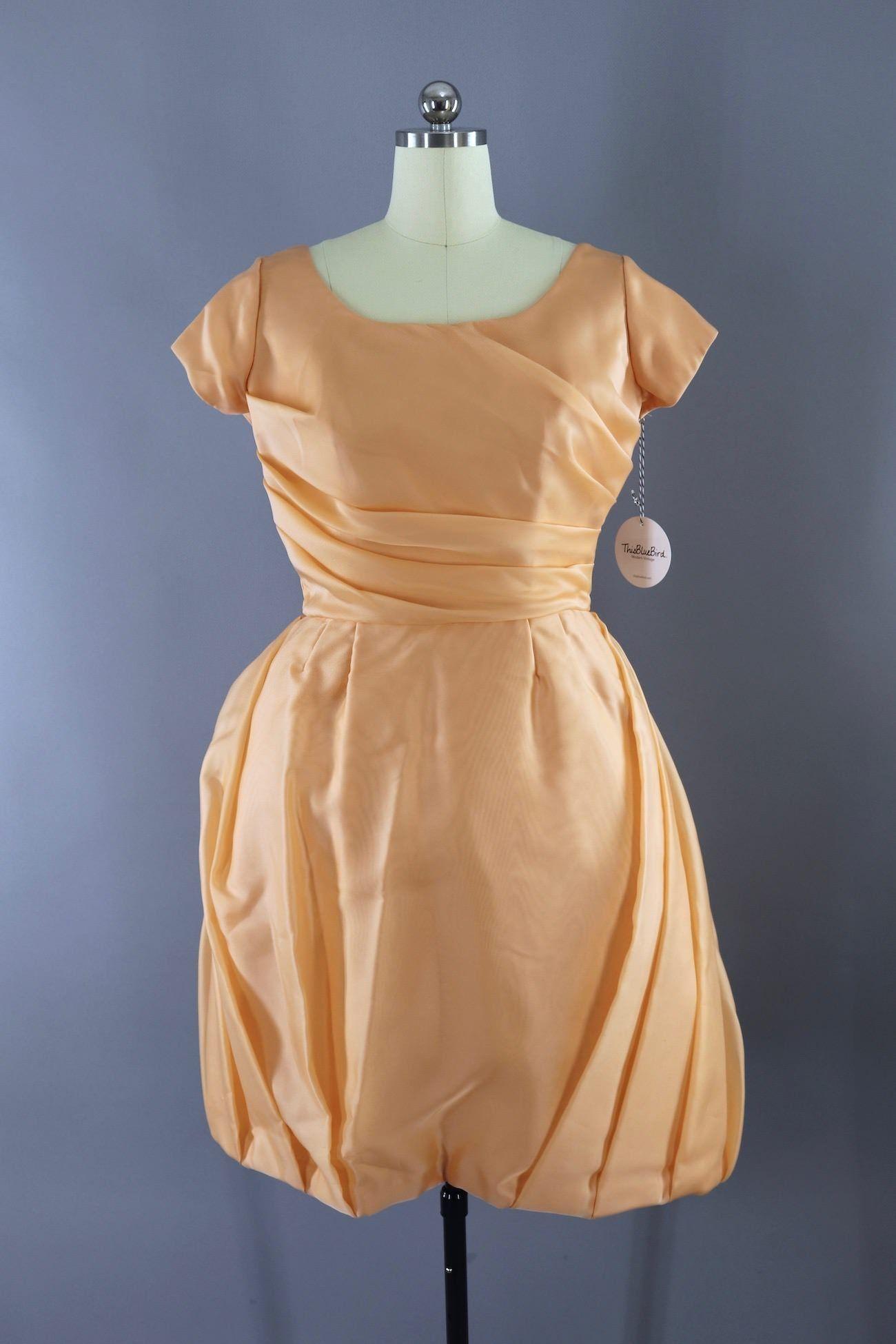 Vintage 1960s Peach Chiffon Cocktail Dress Cocktail Dress Vintage Chiffon Cocktail Dress Summer Cocktail Dress [ 1950 x 1300 Pixel ]