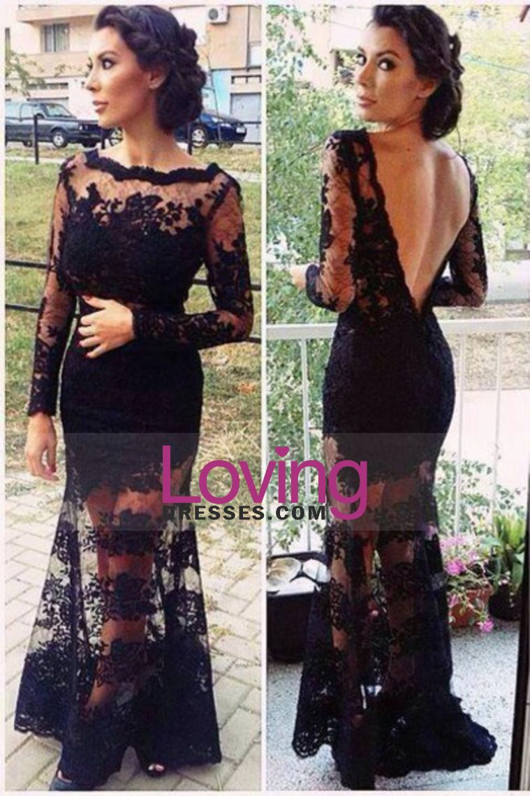 hot selling evening dresses bateau full sleeves mermaid with