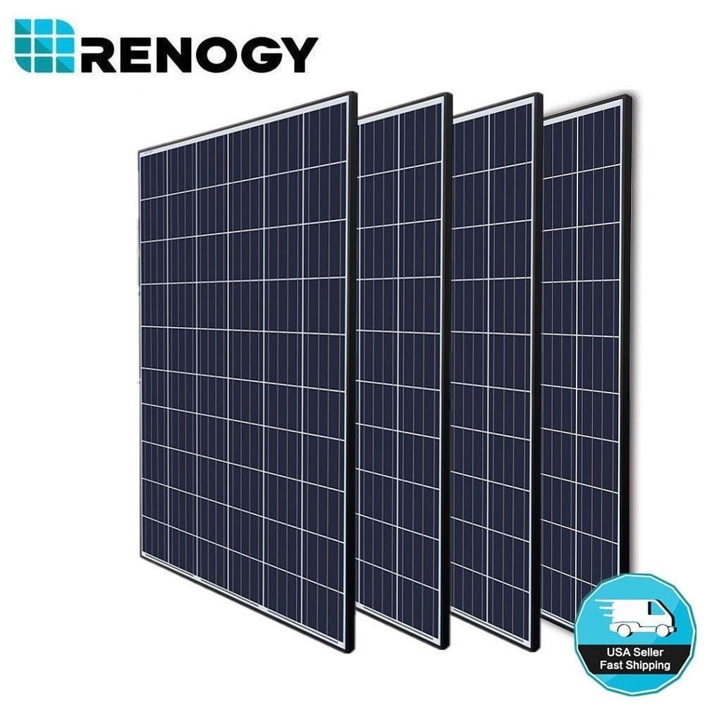 4pcs Renogy 270w 24v Poly Solar Panel 1000 Watt 1000w Off Grid Power Home Cabin Off Grid Power Advantages Of Solar Energy Solar Energy Panels