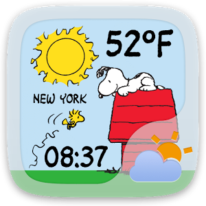 Peanuts Weather Widget Theme App, How to introduce