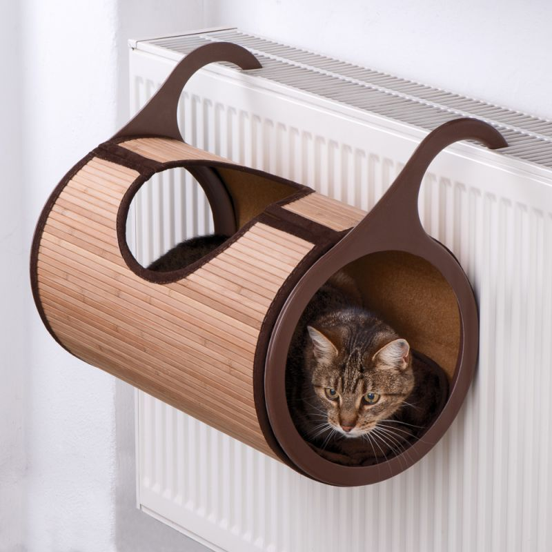 Natural Retreat Radiator Cat Bed is made from natural