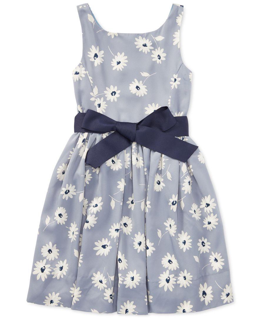 Ralph Lauren Floral Print Twill Dress, Little Girls | Kids