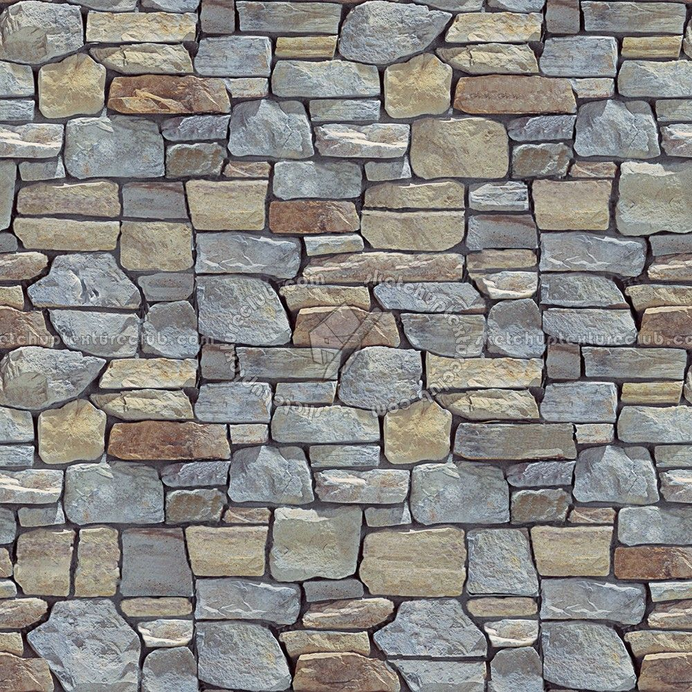 Wall Cladding Stone Mixed Size Seamless 07990 Exterior Wall
