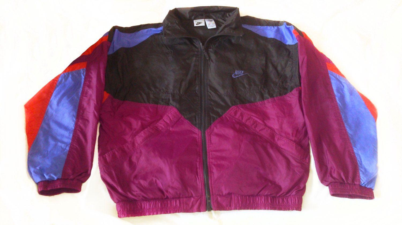 Rare Vintage 90s Nike Windbreaker Track Jacket Blue Red Purple Etsy Vintage Nike Windbreaker Nike Windbreaker 90s Nike Windbreaker