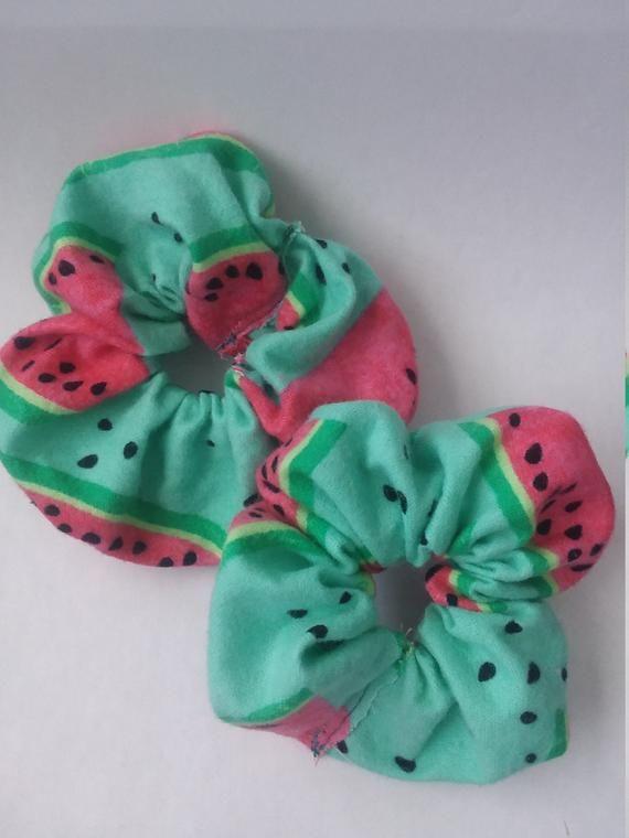 Watermelon Scrunchie Melon Hair Tie Summer Unique Cute