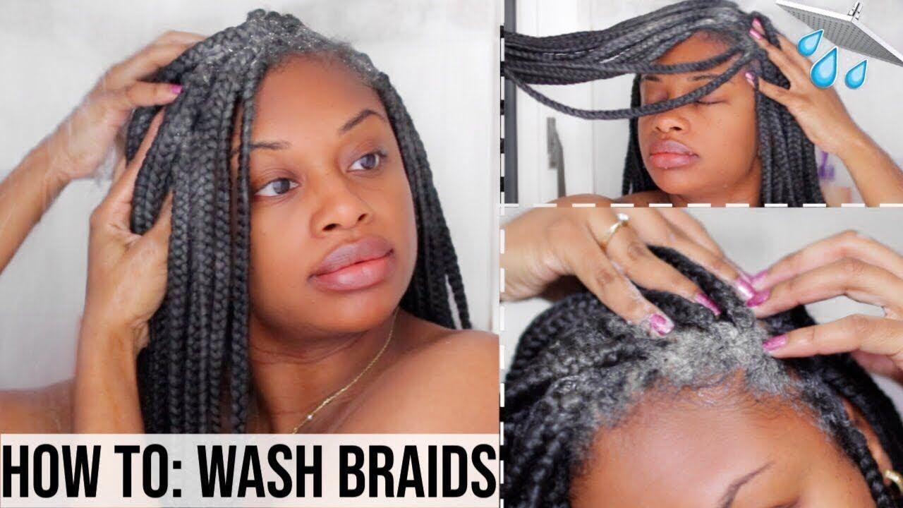 How To Wash Braids And Twists With No Frizz Box Braids