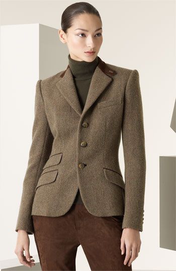 853c2b913b109 Ralph Lauren Black Label  Daryn  Tweed Hacking Jacket
