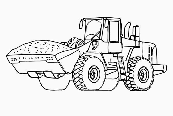 Heavy Construction Equipment Wheel Loader Coloring Page