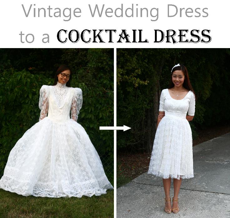 Diy Vintage Wedding Dress To A Cocktail Dress Life Is Beautiful Diy Wedding Dress Repurpose Wedding Dress Dress Makeover
