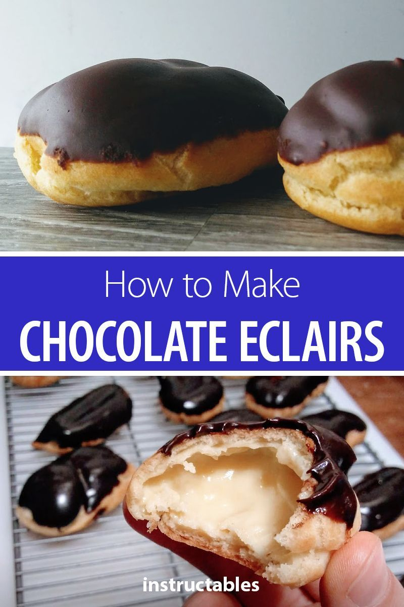 How to Make Chocolate Eclairs | Desserts | Dessert recipes ...