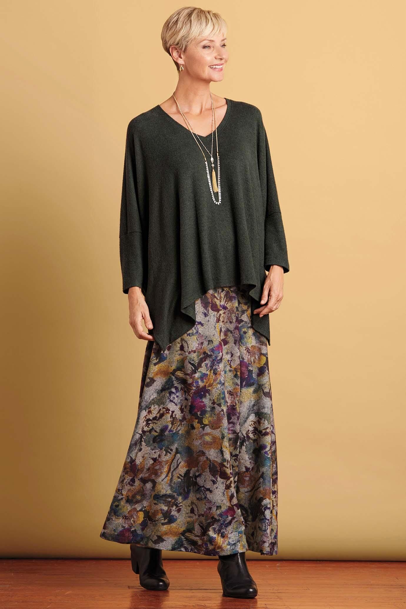 7bf478357b3 Floral Maxi Skirt   Travelsmith  99.95