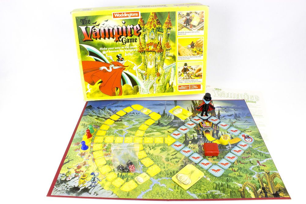 Vintage The Vampire Game The Board Game by Waddingtons