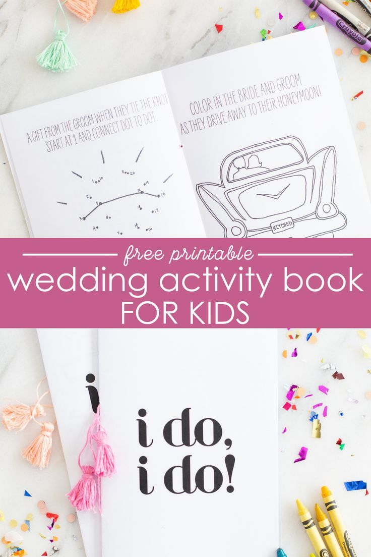 This wedding printable activity book for kids is perfect for keeping kids entertained during a wedding ceremony or wedding reception! Looking for free activities for kids during weddings? Look no further for wedding ideas!