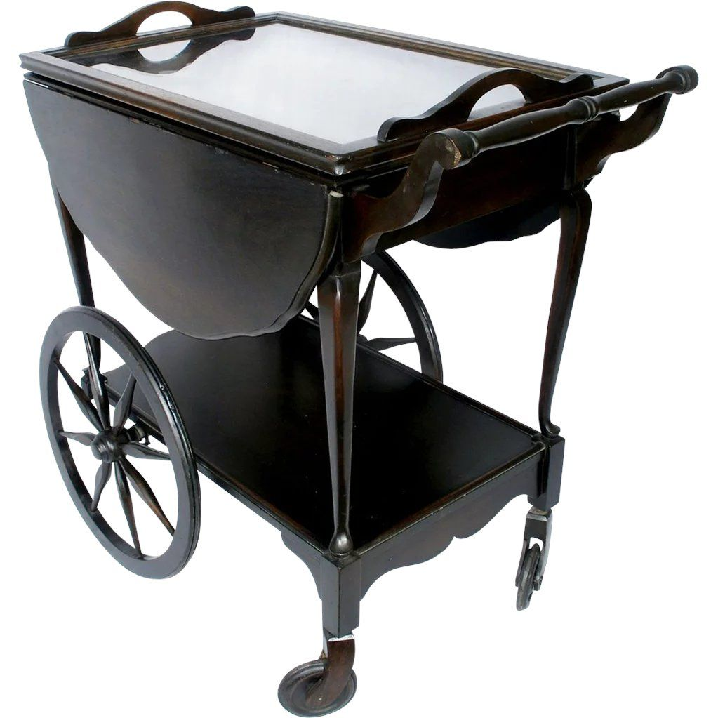 Image Result For Brown Drop Leaf Tea Table Tray Wheels