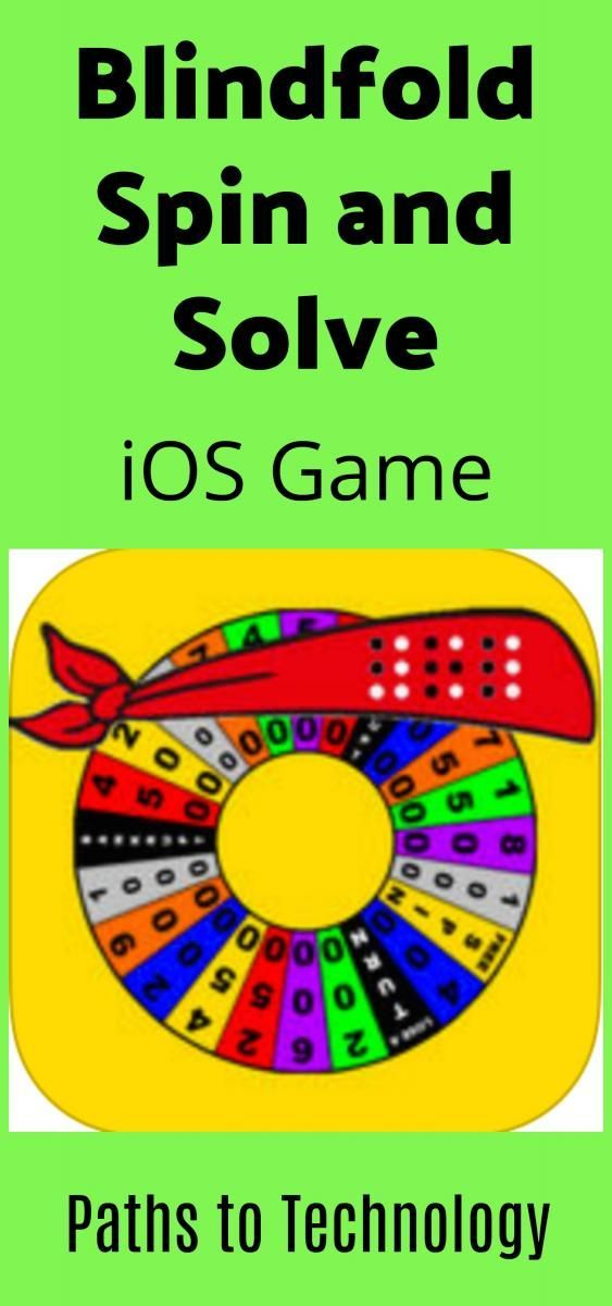 Blindfold Spin and Solve iOS Game Wheel of fortune game