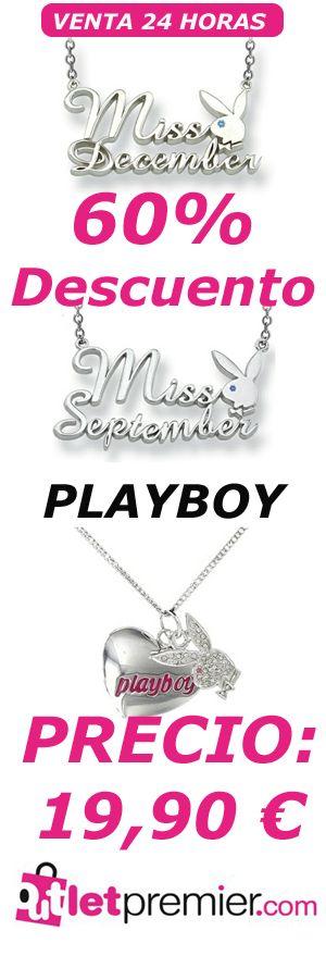 Collares #Playboy en #oferta, con un 60% de #descuento, solo 24 horas y en #outletpremier