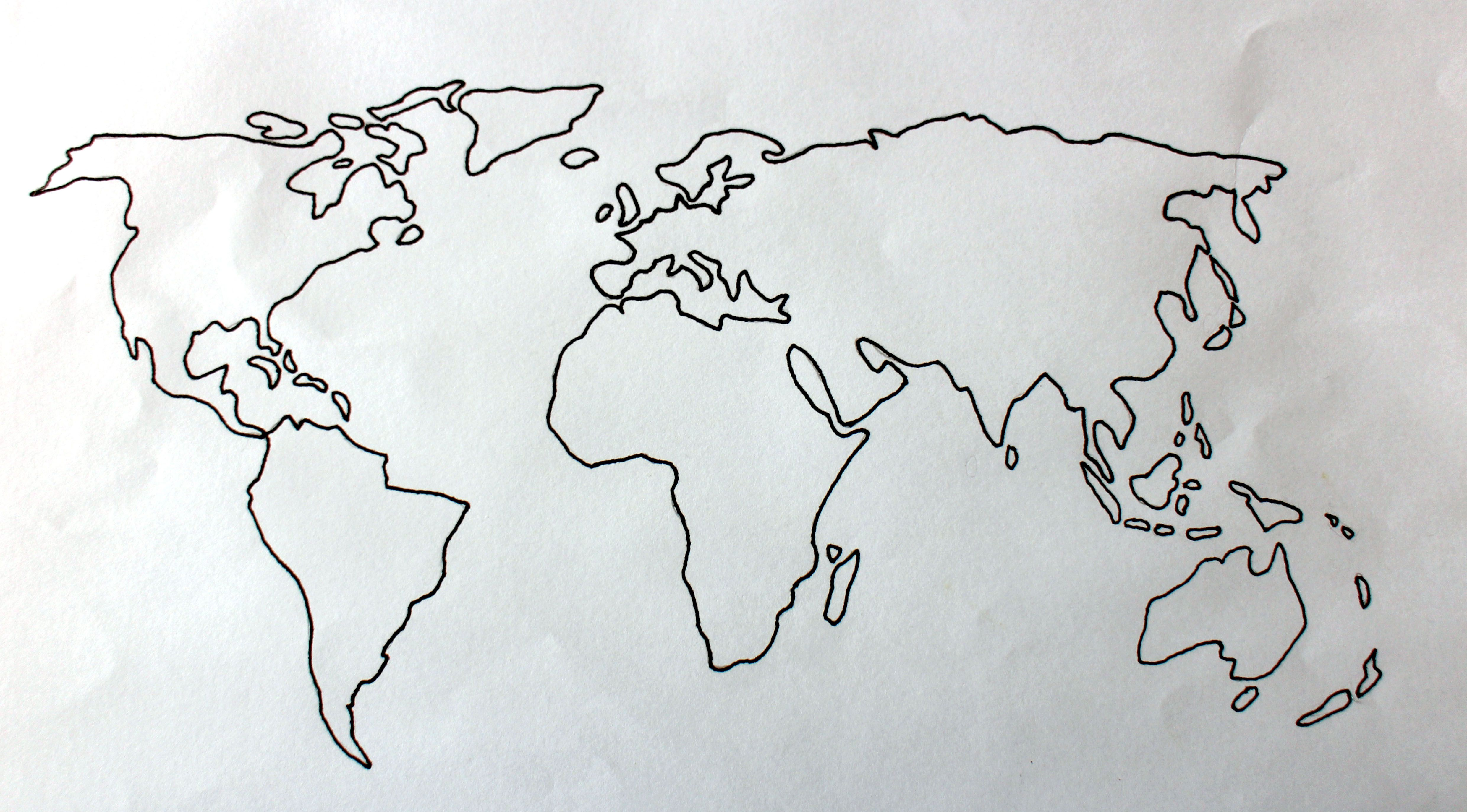 World map globe drawing art for Easy to draw earth