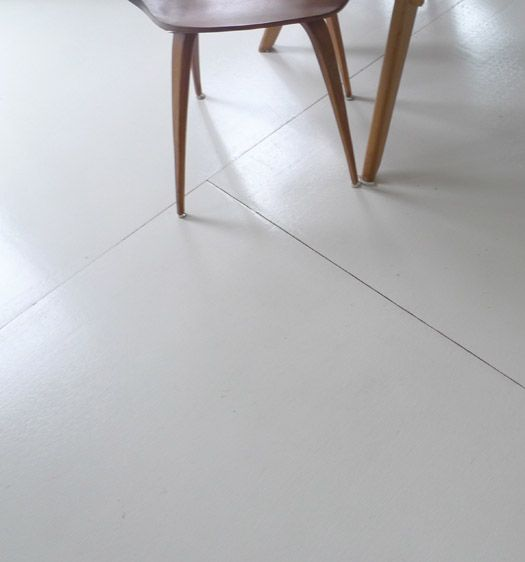 Sun Poch Plywood Floor Made Of The Tongue And Groove Plywood Normally Used For Subfloors Painted Painted Plywood Floors Plywood Flooring White Wood Floors