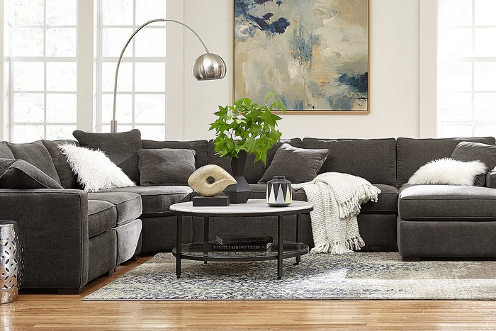 If You Buy One Thing This Cyber Monday Make It This Sectional In 2020 Fabric Sectional Sofas Sectional Sofa Comfy Sectional