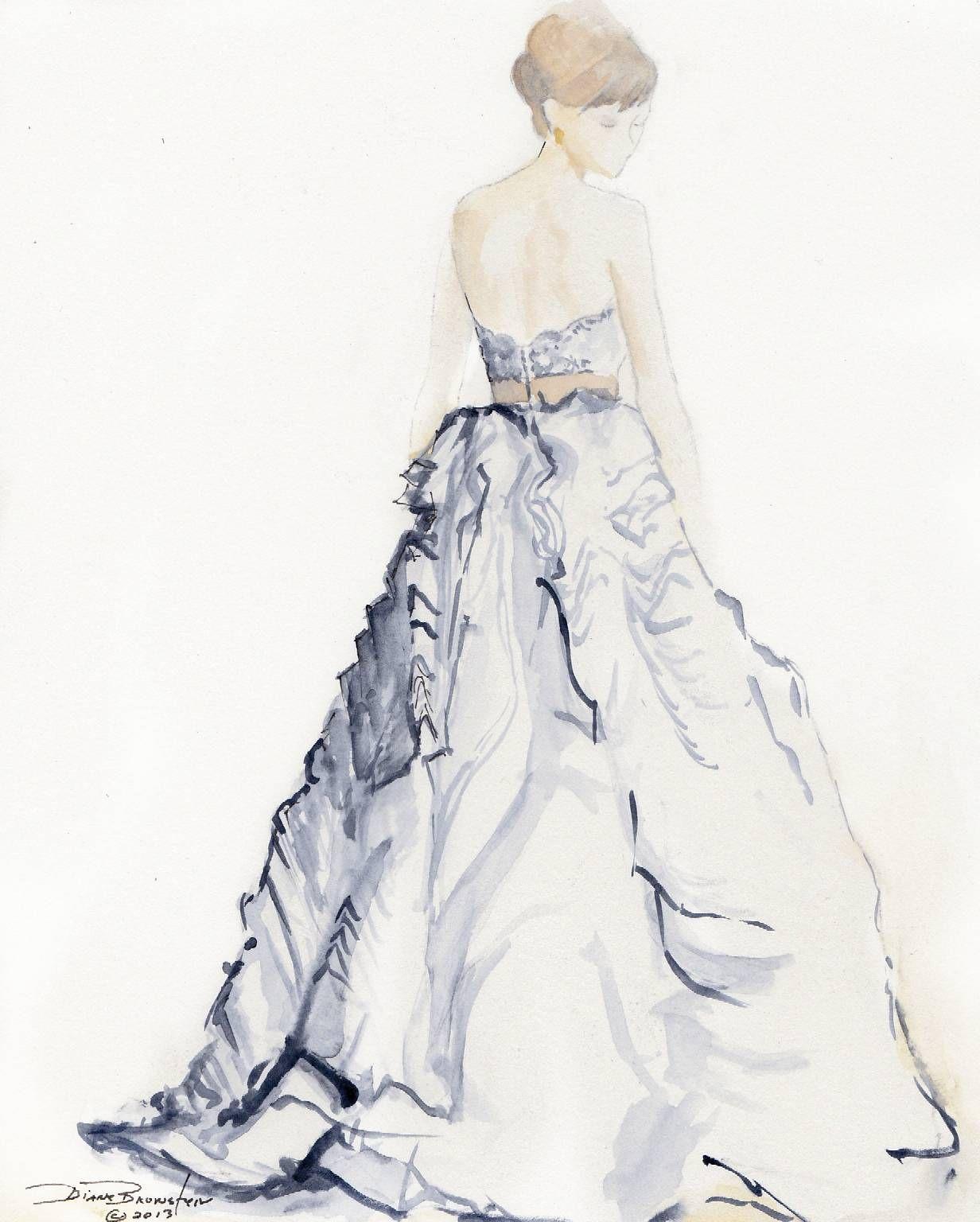 Wedding Dress Paintings By Diane Bronstein Wedding Dress
