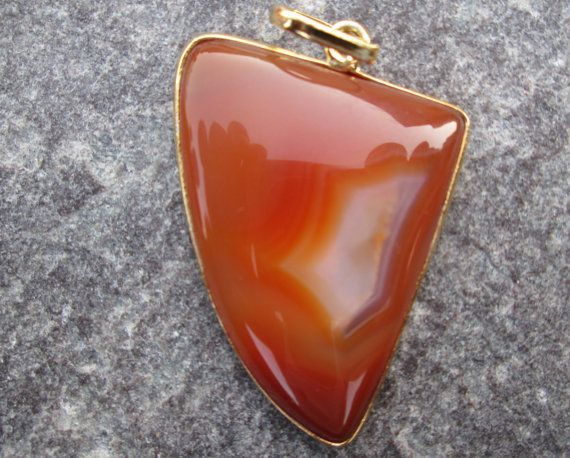 Uniqe Rare 24 kt. Gold Plated Huge red by JaiVyavsayBeads on Etsy, $3.99