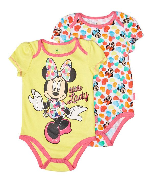 9cfcc65d2754 Look at this Minnie Mouse  Little Lady  Bodysuit Set - Infant on  zulily