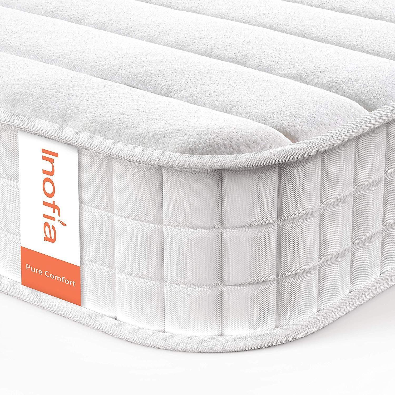 Inofia 9 8inch Wave Memory Foam And Spring Mattress With Anti Mite Kni Mattress Design Mattress Springs Foam Mattress Bed