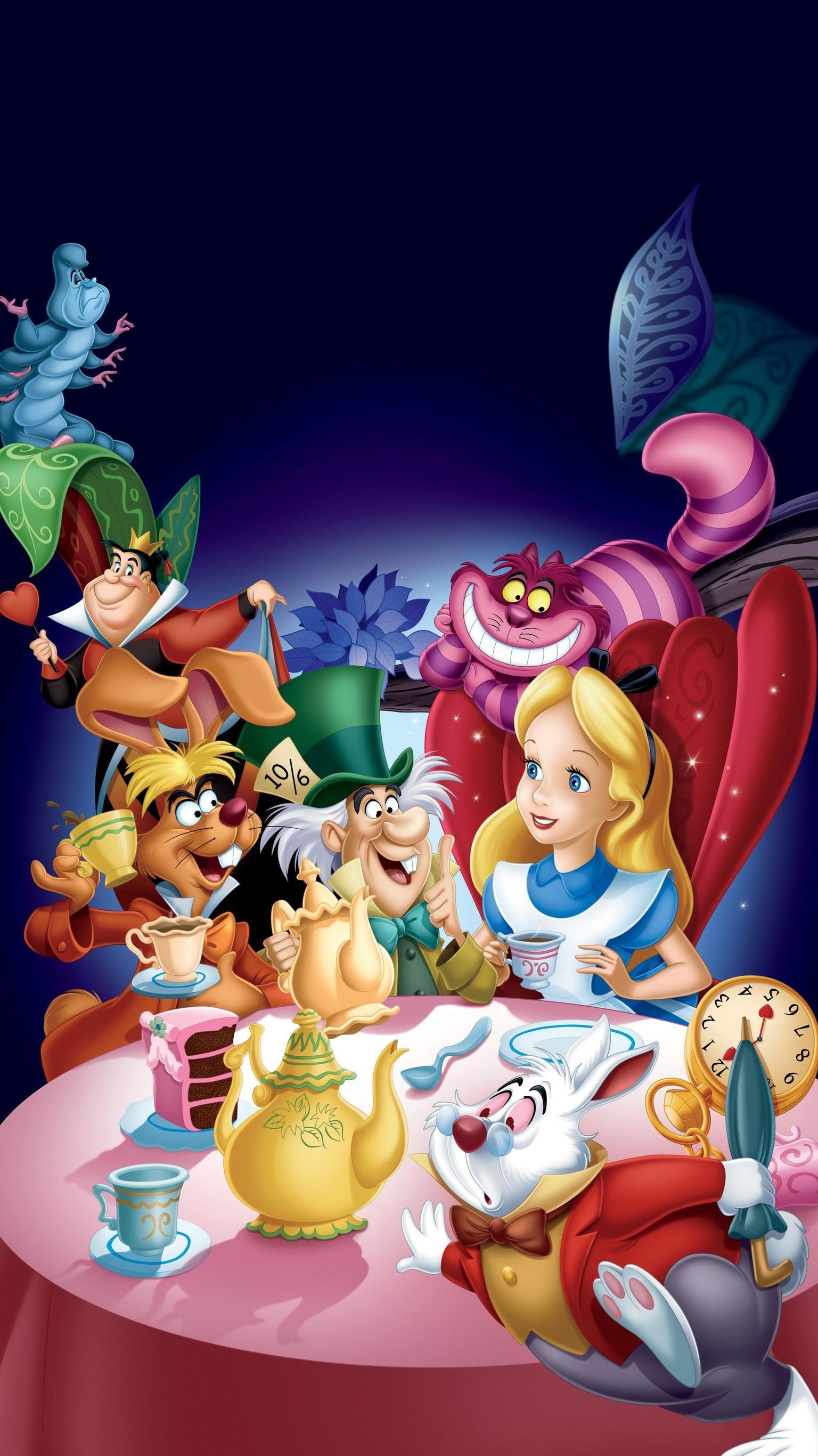 Alice in Wonderland (1951) Phone Wallpaper Alice in