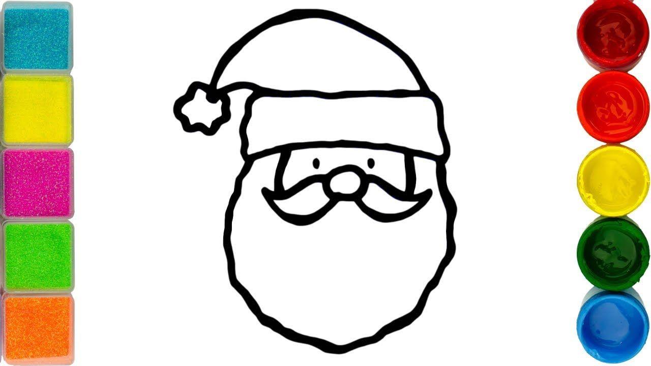 Glitter Santa Claus Drawing And Coloring Christmas Coloring Pages For Christmas Coloring Pages Coloring Pages For Kids Christmas Drawing