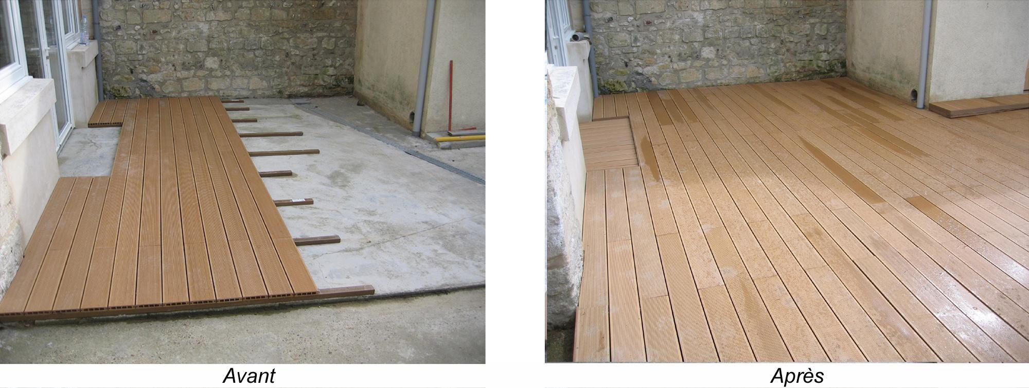 Amenager Une Terrasse En Bois Renovation Et Decoration Actualite Conseil Pour Tout Changer Dalle Terrasse Composite Dalle Terrasse Terrasse Composite