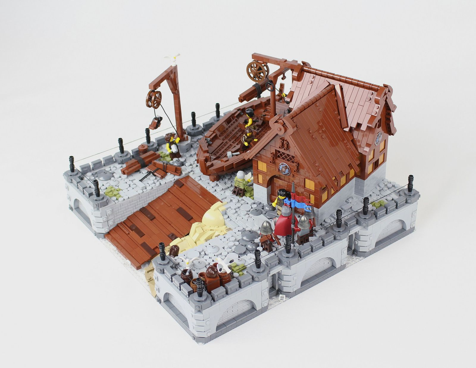 Nurmes Shipyard Geek Lego Castle Lego Ship Lego Creations