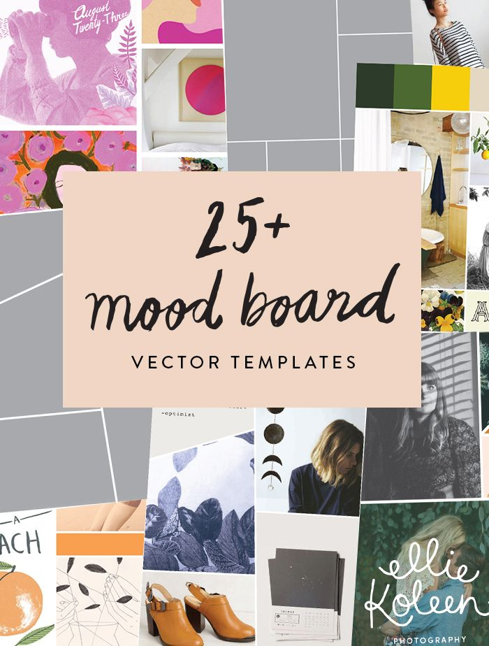 25 Mood Board Vector Templates June Letters Studio Mood Board Design Mood Board Template Mood Board