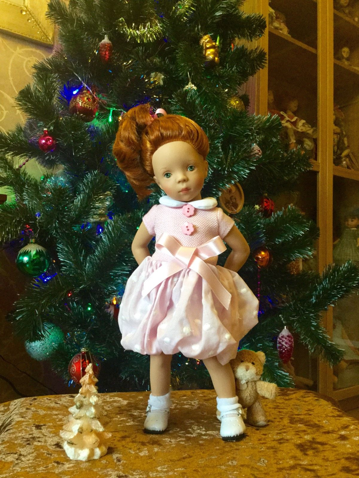 Новогодний калейдоскоп-минушколюбы всех стран, обьединяйтесь / Куклы Sylvia Natterer, Minouche и другие. Kathe Kruse и Petitcollin / Бэйбики. Куклы фото. Одежда для кукол